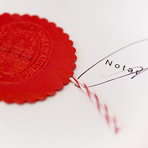 Siegel eines Notars